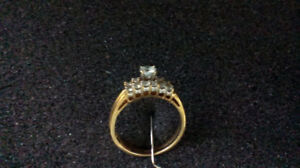Size 9: 14K Women's Yellow Gold Wedding Band Ring for Only $300!