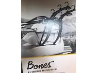 Saris Bones BLACK 3 bikes rack/carrier trunk/boot mounted, boxed