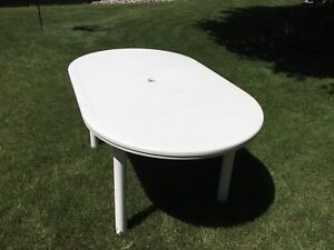 Oval Plastic Resin Patio Table