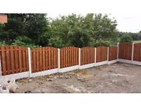 heavy duty double side arch top & concrete post and gravel board fencing package deal