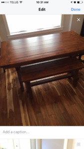 High quality custom made table and bench