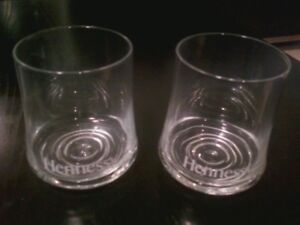 Two Hennessy drinking glasses
