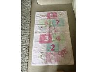 Kids Next girls pink hopscotch rug 110x70cm