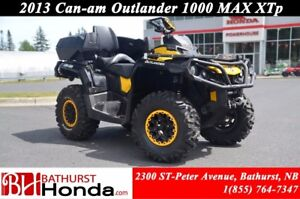 2013 Can-Am Outlander 1000 MAX XTp Fox Suspension! Winch! Rear S