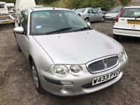 Cheap car of the day Rover 25, starts and drives, short MOT until 28th August, hence price, 89,000 m