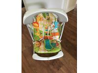 Fisher-price rainforest take along seat & swing. Excellent condition, new batteries. No box