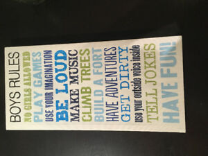 Boys rules canvas picture