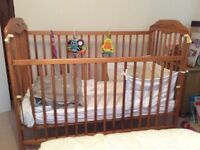 Cot and matching changing table