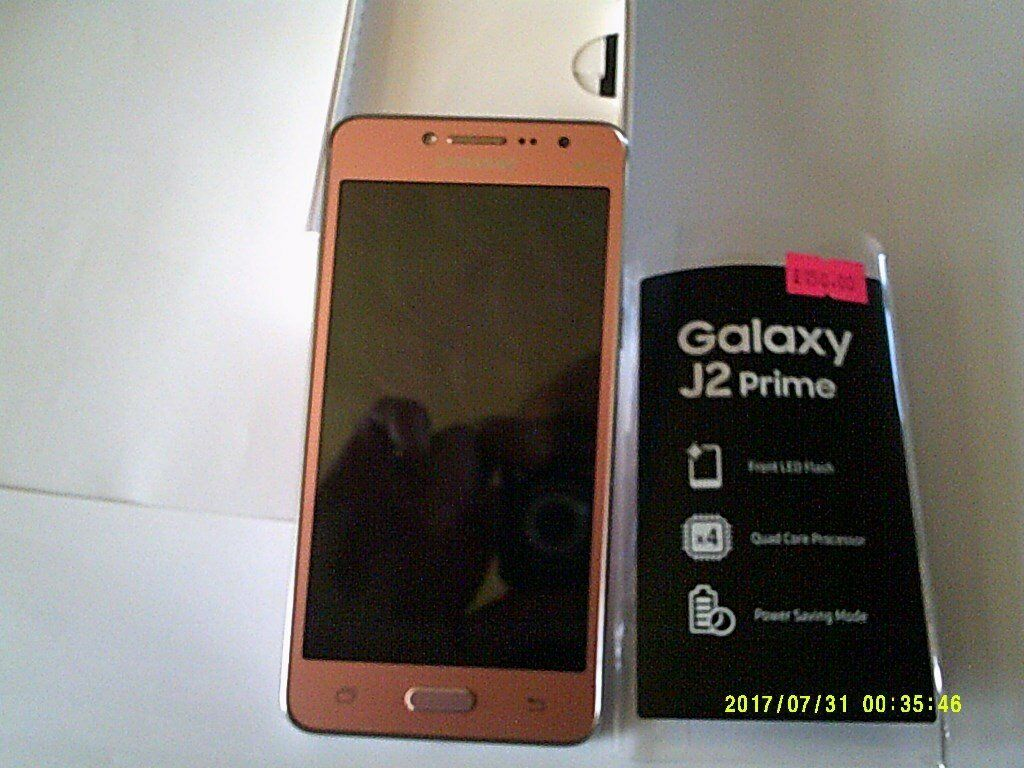 Samsung Galaxy J2 Prime 8gb Unlocked Pink Gold Brand New Case Sold