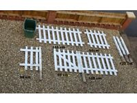 White Picket fence with gate and 5 posts - £70 less than a third of what was paid