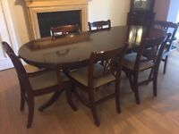 Mahogany Dining Table and Six Chairs PRICE REDUCED FOR QUICK SALE