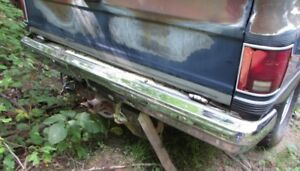 1984 BLAZER FRONT AND REAR BUMPER MINT