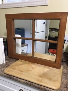 Solid Wood Hanging Mirror