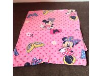 4 sets of toddler bedding, minnie mouse, peppa pig