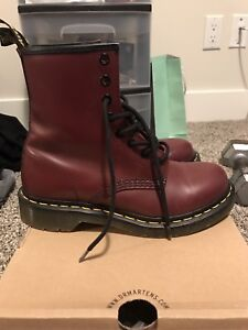 WOMENS RED DOC MARTENS