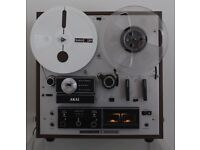 AKAI Cross-Field Head 4-track stereo tape recorder complete with original packing and accessories.
