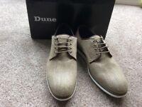 Mens Dune canvas lace up shoes size 12 tan colour