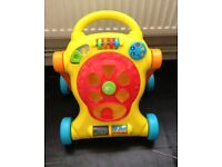 Baby walker with puzzles letter 3d shapes