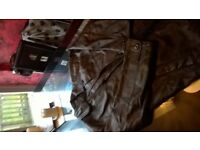 Mens genuine leather jacket
