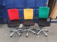 Good quality Office swivel chairs on clearance @ just £20 each
