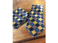 Pure silk tie and pocket square