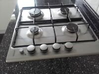 Stainless steel gas hob . 8 months old. Perfect condition . Purchased from Howdens. £35