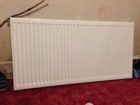 Double panel white radiator x2