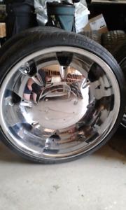22 inch chrome rims 1800$ obo