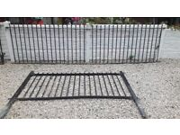 Wrought iron railings / Wall toppers / metal fencing / galvanised fencing / steel fence / garden