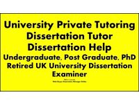 University Private Tutor, Dissertation Help, Dissertation Tutor, PhD, Assignment, Essay, Editing