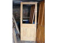 old solid wood 4 panel door
