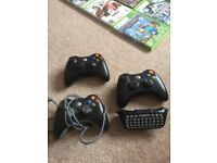 Xbox 360 - 250GB in black, 3 controllers plus 16 games.