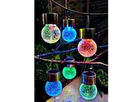 Crackle Ball Solar Lights Sku: 792438 £22.00 Set of 6 colour changing glass solar lights.