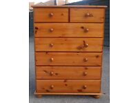 Pine Chest of Drawers/7 Drawers/Croydon/Surrey/London/Can Deliver Locally