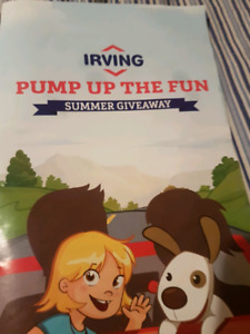 Looking for irving pump up the fun stickers