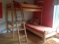Bunkbeds Solid pine with Desk