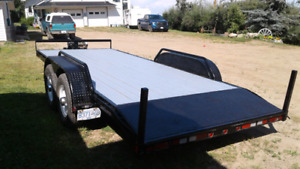 "16'0"" 14,000 lb Trailer with Beavertails and Ramps"
