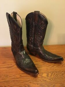 Genuine leather cowboy boots from Austin, Tx