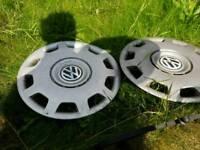2x 14 inch vw wheel trims