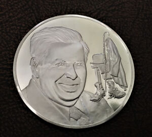 Sterling silver medal 1977 Death of Charlie Chaplin 30.87g