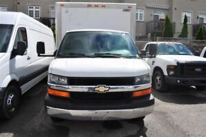 2008 Chevrolet Express 3500 16 foot Cube van.
