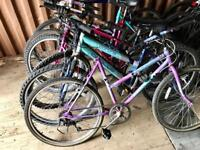 21 BIKES FOR SPARES OR REPAIRS £120