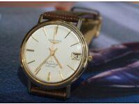 9 ct GOLD LONGINES FLAGSHIP 3*** Automatic vintage wristwatch
