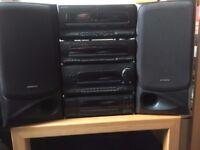 High Quality (50w per channel), fully working Kenwood Audio system (retro 2003 model)