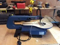 SEALEY VARIABLE SPEED SCROLL SAW WITH BLADES. USED ONCE £80