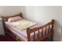 Argos Solid Pine Wood Single Bed Frame--Standard Single Bed in an Excellent Condition