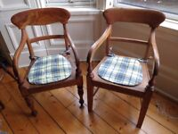 Pair of vintage/antique wooden captain's chairs