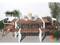 Habitat Albee Wood and Metal Outdoor Table and Chair Set