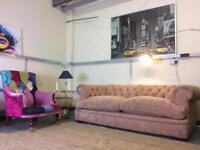 Chesterfield Velvet 3 seater sofa