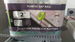 """For sale: 2"""" roofing nails & 2"""" plastic cap nails"""